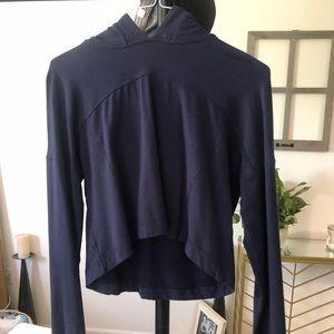 Lulu lemon dark blue crop sweat shirt!